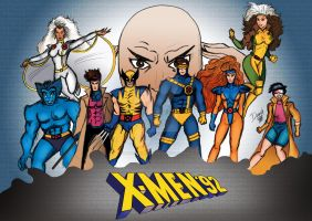 X-Men '92 colored by mrdauchberg