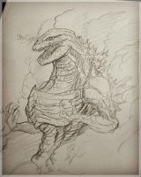 Shin'Gojira ( sketch ) by Gabe-TKE