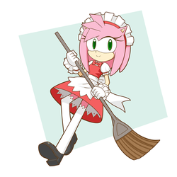 Commission maid Amy by HowXu