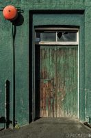 Green door by shadowfoxcreative