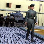 German Officer Inspecting the Troops by VanishingPointInc