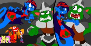 Julia the Genie Fights Gnasty Gnorc by SammyD-Productions
