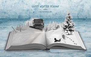 Happy Winter Season - Winter Book by wellgraphic
