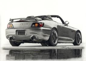 Honda S2000 drawn by VeVe-350Z