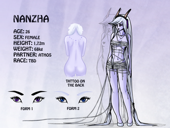 .:Nanzha - Reference Sheet:. (WIP) by EvilZera