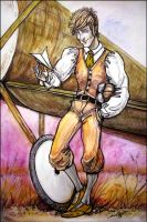 Art Trade: Flying Officer Vincent Evers by TheUrbanFox
