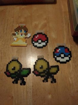 Pokemon and Mario Perlers by Tibby-san