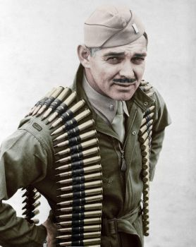 Clark Gable during WWII - Colorized by OldHank