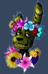 flower covered trashcan by thepipefox