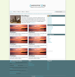 Wordpress magazine theme layout by kekkorider