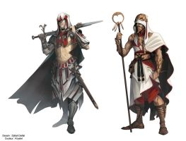 Assassin's creed characters (frenc comic books) by Krystel-art