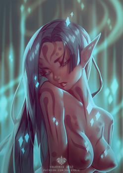 [NSFW] Painted Nymph by Valkymie