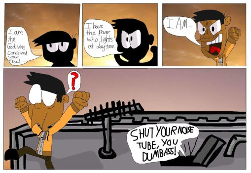 TWOG Comic Strip - An Idiot from Sunset by WlanProductions