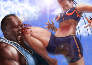 Chun Li the Gauntlet Page 25 Panel 6 by Tree-ink