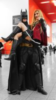 Batman is very strong! with Dark SuperGirl by Hekady