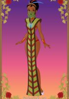 Tribal Princess:Tiana_design 2 by GlamourGoth89