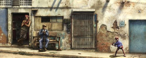 Streets of Havanna by Victor-Lam-art