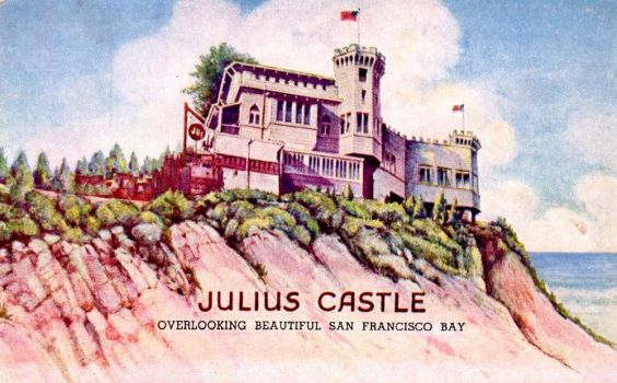 Vintage San Francisco - Julius Castle by Yesterdays-Paper