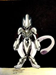 Armored Mewtwo by audiobrainiac