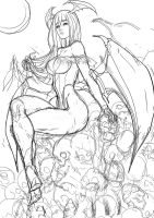 Random Sketch #Morrigan by MatoelGrande
