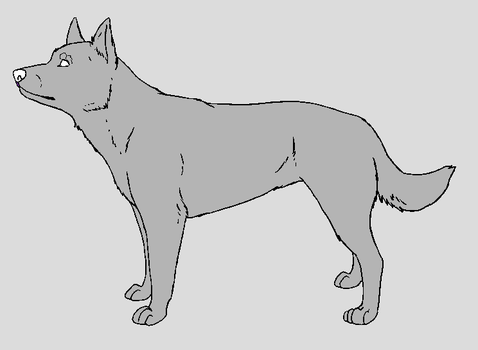 Dog Template - Australian Kelpie by NaruFreak123-Bases