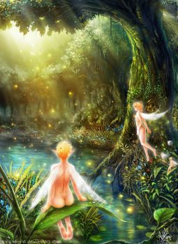 Forest Fairies by MeganeRid
