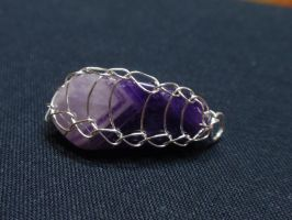Amethyst pendant by MermaidsTreasury