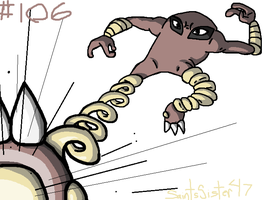 #106 Hitmonlee by SaintsSister47