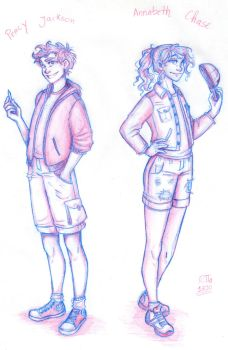 Percy and Annabeth by RiTTa1310