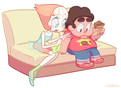 Steven and Pearl by SakikoAmana