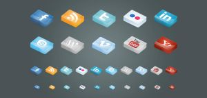 FREE 3D Social Icons by ait-themes