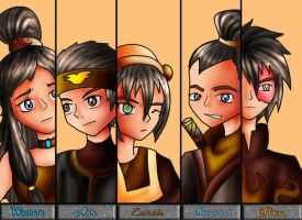 Avatar Team Fire Nation by renealexa