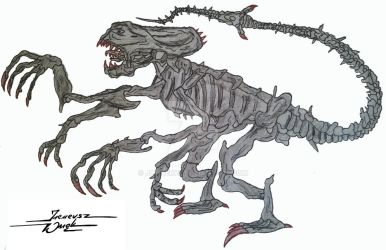 My first draw of Alien Queen - age 9 (1991)