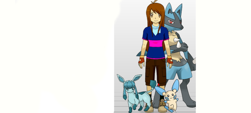 Me and my Pokemon! by NeonIceCat