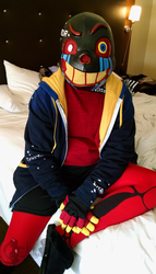 [Cosplay] Error!Sans-After a long Day :2016: by NobleTanu
