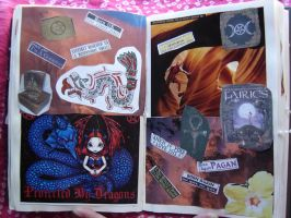 1st Altered Book 22, Favorites by angelstar22