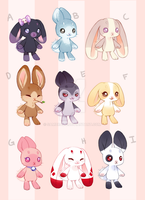 Sugar Bun Adoptables by sambragg