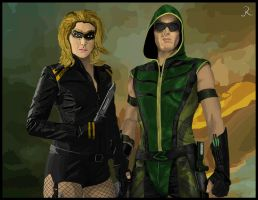 Green Arrow - Black Canary by SpideyVille