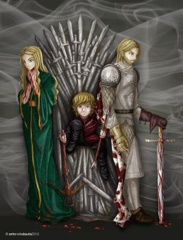 Jaime, Tyrion and Cersei: the Lannisters in blood by SleepingAnto