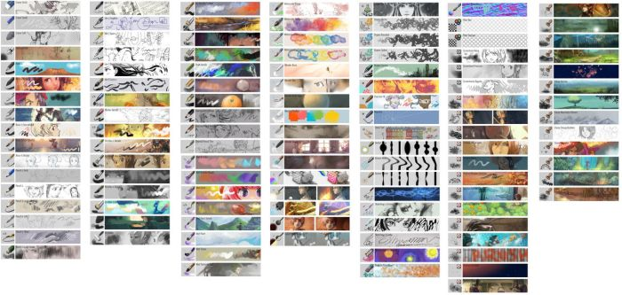Krita 4.0 default brushes by Deevad