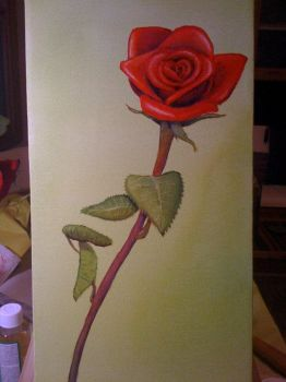 Rose in oil by Rannegs