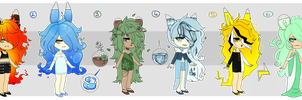 [CLOSED] Elemental Driftlings by x-Cute-Kitty-x
