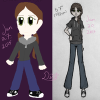 Old vs New - Me by astra-magicka