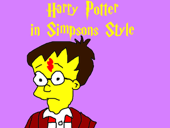 Harry Potter in Simpsons Style by MikeJEddyNSGamer89