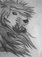 Lion drawing by Hrasulee