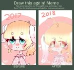 Draw this again meme- my old oc  by Maizy24