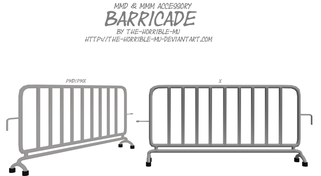 [MMD + M3 Accessory] Barricade NEW + DL by The-Horrible-Mu