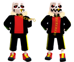 Underfell Sans (DL) by KittyNekkyo