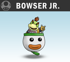 SSB4 - Bowser Jr. by Antonator