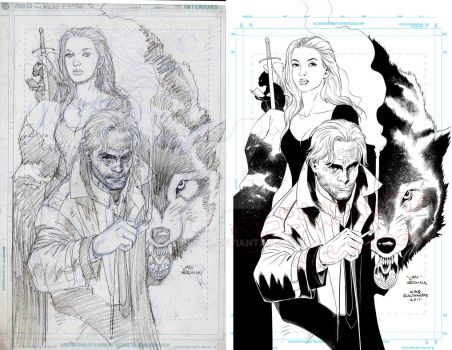 Fables Cover_Pencils and Inks by debuhista